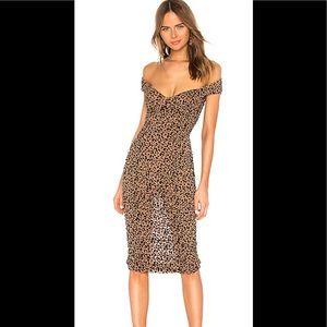 Majorelle  Tabitha Leopard Print Cocktail Dress